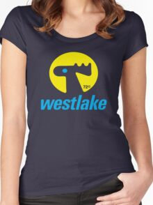 A very Elk sexy Blue & Yellow Design T-Shirt Women's Fitted Scoop T-Shirt