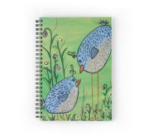 Crazy Blue Birds Spiral Notebook