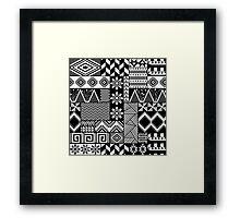 Black and white ethnic print Framed Print