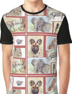South African Wildlife collection Graphic T-Shirt