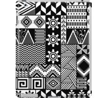 Black and white ethnic print iPad Case/Skin