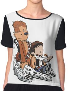 Chewie And Han Calvin And The Hobbes Chiffon Top