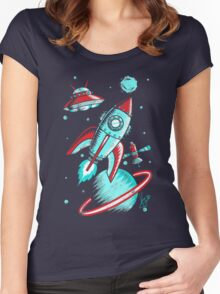 Retro Space Women's Fitted Scoop T-Shirt