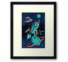 Retro Space Framed Print