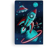 Retro Space Canvas Print