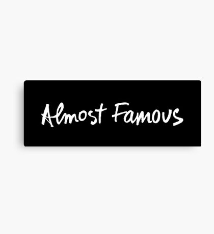 Almost Famous Handwriting (White) Canvas Print