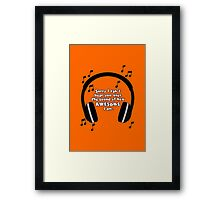Sound of Awesome Framed Print