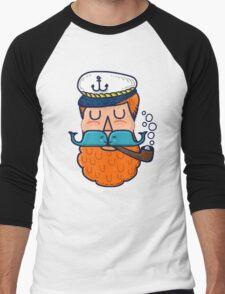 Moby Dick Beard Men's Baseball ¾ T-Shirt