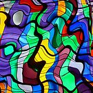 Distorted Stained Glass  by Shevaun  Shh!