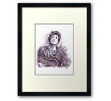 BOB DYLAN PORTRAIT IN INK Framed Print