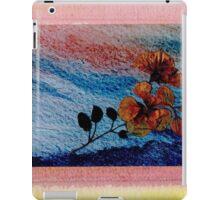 Pressed Flowers on Blue iPad Case/Skin