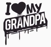 I love love heart Grandpa graffiti T-Shirt