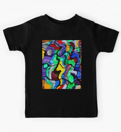 Distorted Stained Glass  Kids Tee