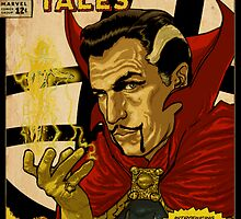 VINCENT PRICE AS DR. STRANGE- RETRO COMIC COVER by ATOMICBRAIN