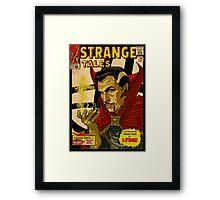 VINCENT PRICE AS DR. STRANGE- RETRO COMIC COVER Framed Print