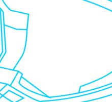 Mx Helmet Blue Sticker