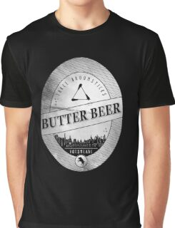 BUTTERBEER - Hogsmede Brew White Label  Graphic T-Shirt