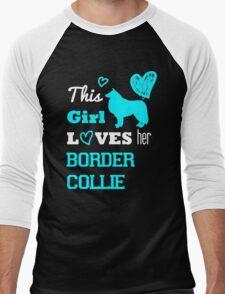 This Girl Loves her Border Collie Men's Baseball ¾ T-Shirt