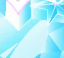 Space Patrol Luluco Crystal Heart Sticker