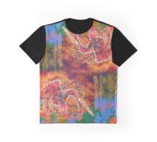 Orange Elephant Graphic T-Shirt