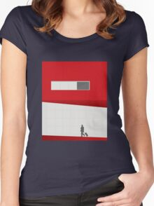 Funky Little Red Building Women's Fitted Scoop T-Shirt