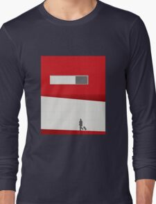 Funky Little Red Building Long Sleeve T-Shirt