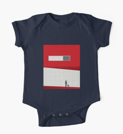 Funky Little Red Building One Piece - Short Sleeve