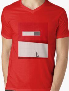 Funky Little Red Building Mens V-Neck T-Shirt