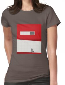 Funky Little Red Building Womens Fitted T-Shirt