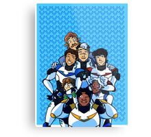 Family Portrait in Space Metal Print