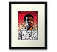 Typography Chance Framed Print