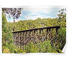 Trestle Bridge, Gippsland Poster
