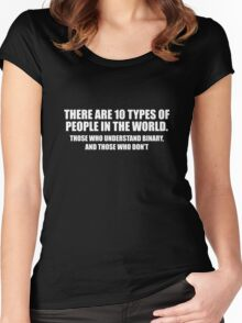 There Are 10 Types Of People Women's Fitted Scoop T-Shirt