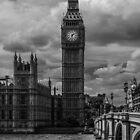 Big Ben - black & white by Anastasia E