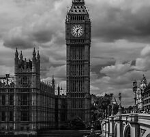 Big Ben - black & white by Anastasia E
