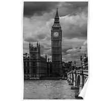 Big Ben - black & white Poster