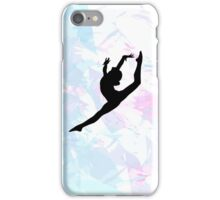 Water Colour Gymnastics Silhouette  iPhone Case/Skin