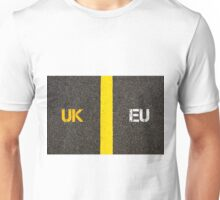 Antonym concept of UK United Kingdom versus EU EUROPEAN UNION Unisex T-Shirt
