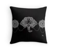 Elephant Mandalas Throw Pillow
