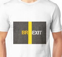Concept of BREXIT, UK United Kingdom versus EU EUROPEAN UNION separate by line Unisex T-Shirt