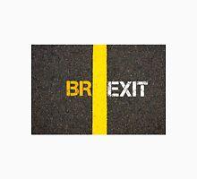 Concept of BREXIT, UK United Kingdom versus EU EUROPEAN UNION separate by line Unisex T-Shirt