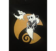 adventure time with jack skellington nightmare before christmas Photographic Print