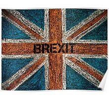 BREXIT concept over British Union Jack flag Poster