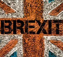 BREXIT concept over British Union Jack flag Sticker