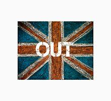 BREXIT concept over British Union Jack flag, OUT message Unisex T-Shirt