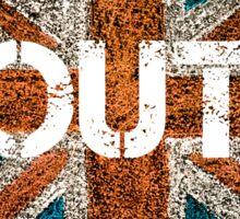 BREXIT concept over British Union Jack flag, OUT message Sticker