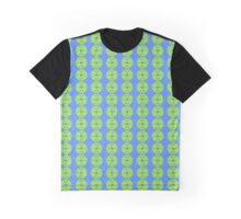 Lime Green and Turquoise Graphic T-Shirt