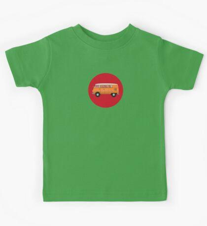 Volkswagen Combi T-Shirt Van Fan Club Sticker Kids Tee