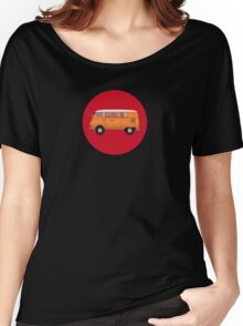 Volkswagen Combi T-Shirt Van Fan Club Sticker Women's Relaxed Fit T-Shirt