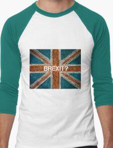 BREXIT concept over British Union Jack flag Men's Baseball ¾ T-Shirt